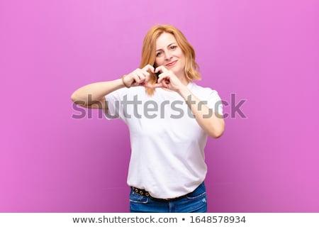 romantique · forme · de · coeur · Valentin - photo stock © stockyimages