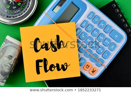 cash flow - written with banknotes on white background Stock photo © pterwort