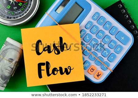 cashflow · geschreven · bankbiljetten · witte · business · papier - stockfoto © pterwort