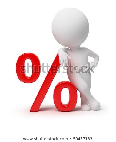 3D klein mensen procent afbeelding geïsoleerd Stockfoto © AnatolyM