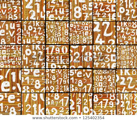 3d abstract graffiti spray tag font number backdrop on orange Stock photo © Melvin07