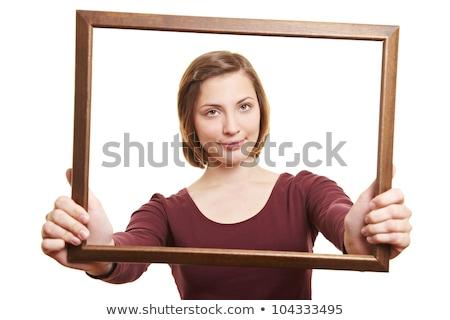 brunette · vrouw · lang · haar · droom · vrouwen - stockfoto © rosipro