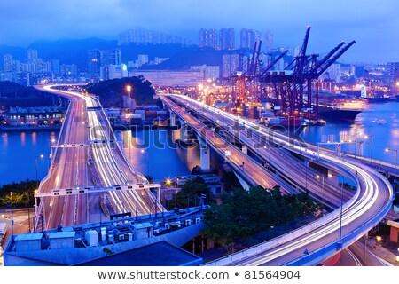 carga · carreteras · Hong · Kong · dinero · edificio · luz - foto stock © leungchopan