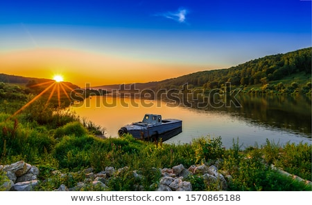 boat on a river Stock photo © xedos45