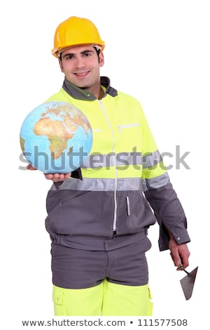 Construction worker holding a globe Stock photo © photography33