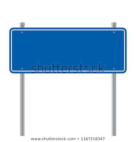 Jelzőtáblák kék izolált fehér felirat űr Stock fotó © Quka