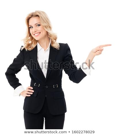 iş · kadını · işaret · bir · şey · kadın · akıllı - stok fotoğraf © wavebreak_media