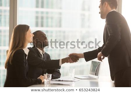 бизнесмен · сидят · Председатель · изолированный · белый · счастливым - Сток-фото © photography33