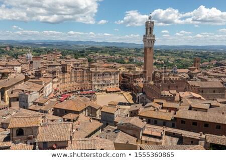 глубокий · Blue · Sky · Церкви · кирпичных · Тоскана · древних - Сток-фото © julian_fletcher