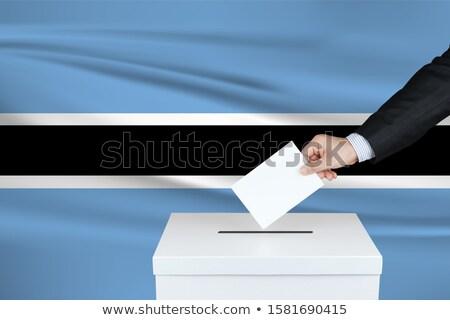 man voting on elections in botswana Stock photo © vepar5