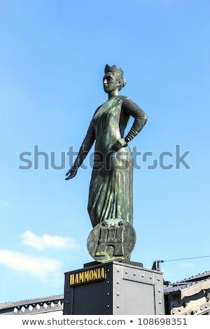 statue of Europa at the  Brooks Bridge of Hamburg Stock photo © meinzahn
