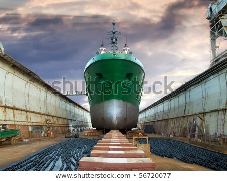 The ship in the dry dock during the overhaul Stock photo © rufous