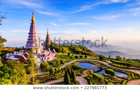 Thai temple in Chiang Mai Stock photo © bbbar