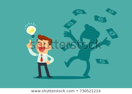 Businessman with idea and money stock photo © pinkblue