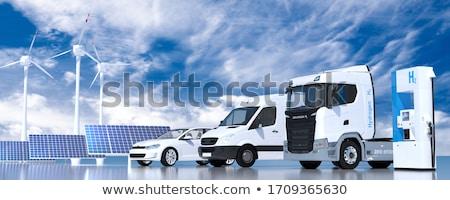Stock fotó: Benzinkút · pumpa · benzinkút · éjszaka · ipar · energia