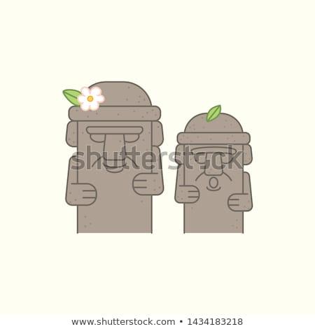 Vector icon stone statue Stock photo © zzve