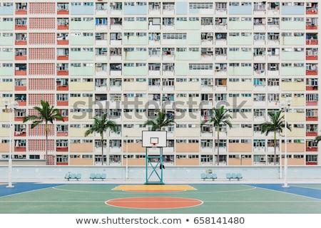 Hongkong publicznych obudowa krajobraz domu Zdjęcia stock © kawing921