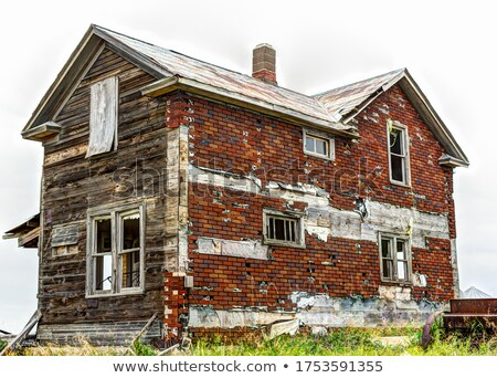 Two chimneys on an abandoned house stock photo © deymos