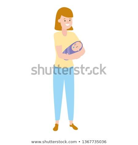 ストックフォト: 母親 · 白 · 赤ちゃん