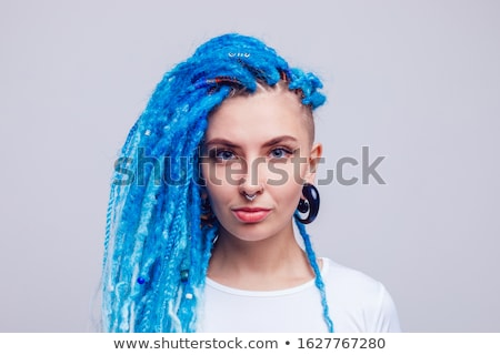 portrait of young smiling woman with  dreadlocks. Stock photo © stepstock