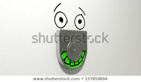 Сток-фото: зеленый · рельеф · туалет · двери · механизм
