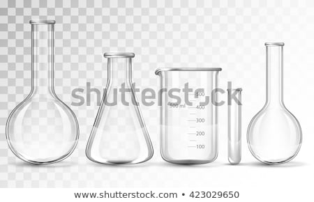 laboratoire · verrerie · liquide · vert · blanche · 3d · illustration - photo stock © cherezoff