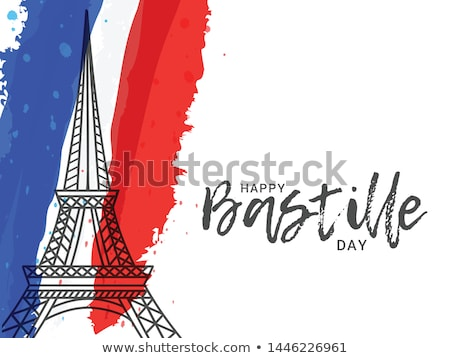 Ribbon banner - french flag Stock photo © StockwerkDK