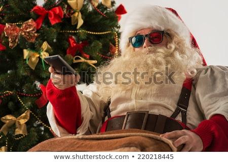 Stockfoto: Kerstman · kijken · tv · home · theater