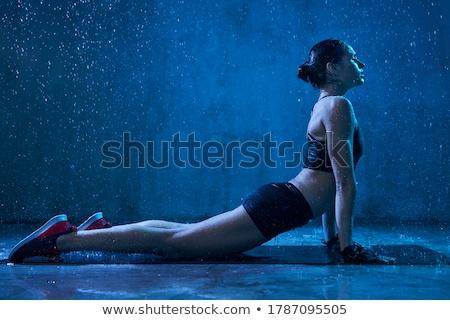 Mulher tenso luz preto e branco mão Foto stock © Rob_Stark