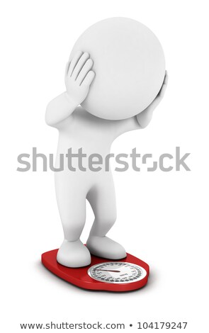 3d man with nutrition scale stock photo © kirill_m