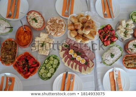 Serbian cuisine Stock photo © badmanproduction