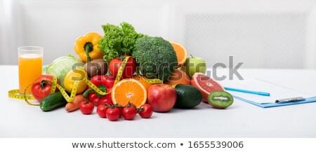 legumes · salada · tomates · fita - foto stock © m-studio