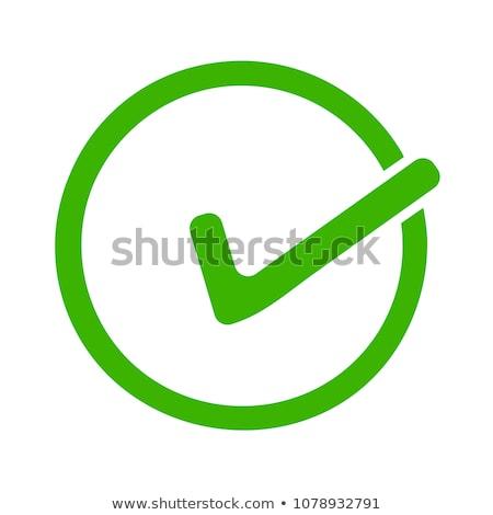 green positive approve sign Stock photo © burakowski