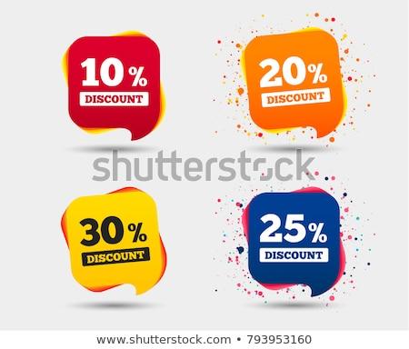 Vetor 20 por cento desconto dinheiro projeto Foto stock © burakowski