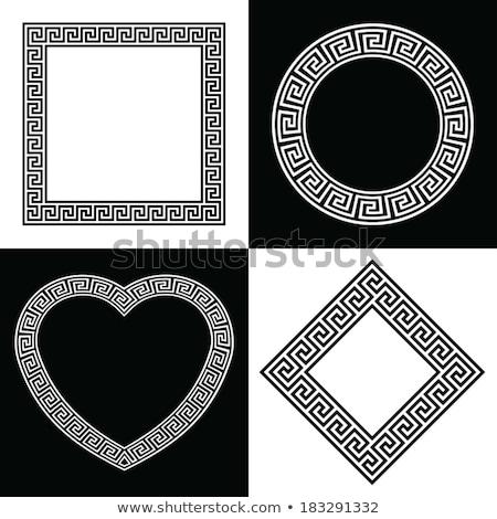 Greek Key Heart Shape Border Stock photo © VectaRay