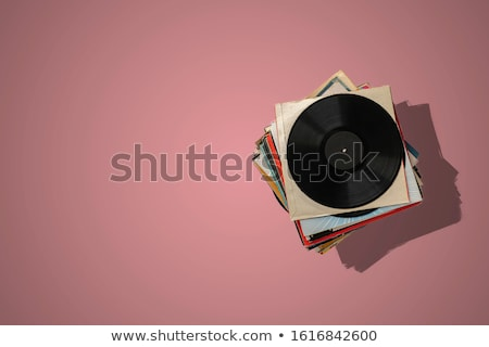 Gramofone preto ilustração vetor Foto stock © derocz