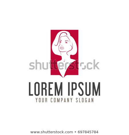 A lady's face in a flower- logo for parlor business  Stock photo © shawlinmohd