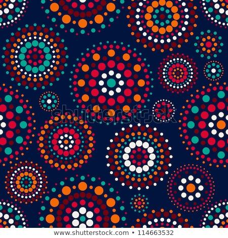 Senza soluzione di continuità concentrico cerchio pattern blu pipe Foto d'archivio © Melvin07