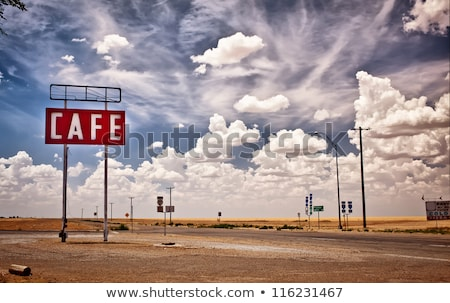 Abandoned roadside diner sign Stock photo © njnightsky