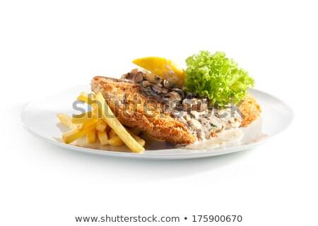 chicken escalope with potatoes and mushroom Stock photo © Antonio-S