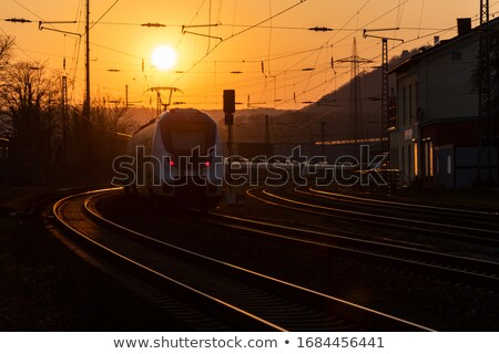catenary in winter at the station Stock photo © meinzahn
