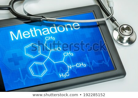 Tablet with the chemical formula of methadone Stock photo © Zerbor