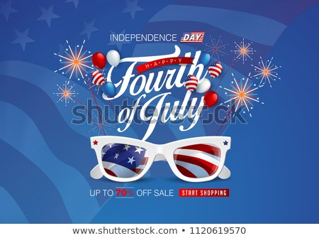 4th july american independence day brochure template celebratio Stock photo © bharat