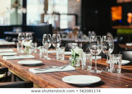 banket · tabel · schotel · voedsel · restaurant · staal - stockfoto © amok