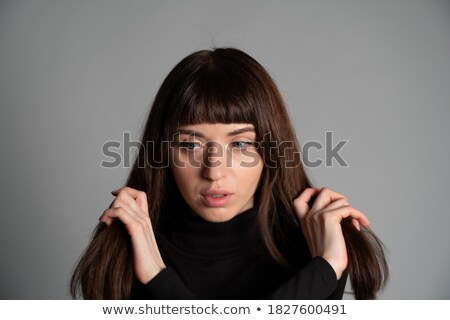 молодые красивая женщина оба рук шее Сток-фото © dash