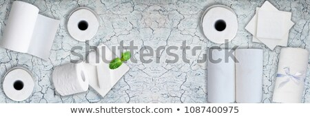 Zöld papírzsebkendő papír összehajtva fehér puha Stock fotó © dezign56