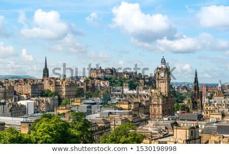 зданий Эдинбург подробность старые Шотландии улице Сток-фото © elxeneize