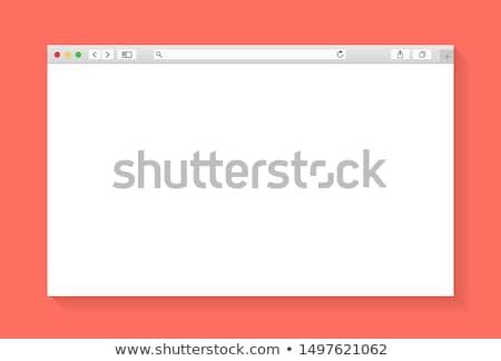 Internet browser venster computerscherm business computer Stockfoto © alexmillos
