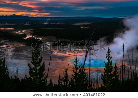 Sunset at Yellowstone stock photo © emattil