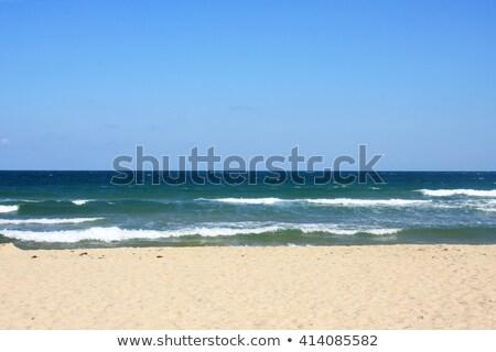 Gyönyörű üres homok tengerpart romantikus uticél Stock fotó © jarin13